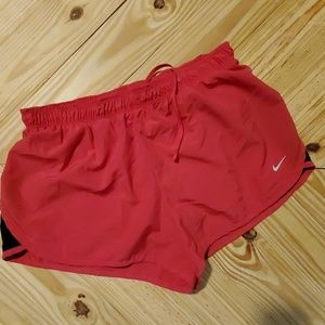 Nike Dri-Fit pink linedRunning Shorts size Medium